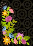 Floral background frame Royalty Free Stock Image