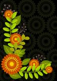 Floral background frame Royalty Free Stock Photo