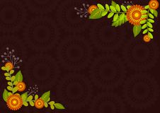 Floral background frame stock photo