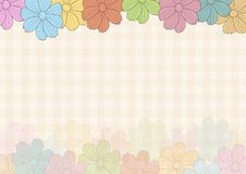 Floral background illustrations in shabby colors. Floral background illustrations colorful full colors royalty free stock photos
