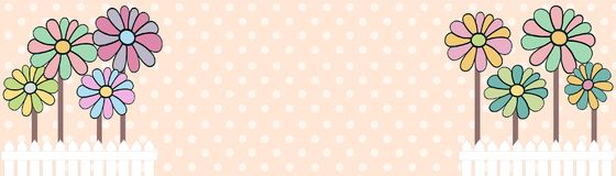 Floral background in shabby colors illustrations. Floral background illustrations colorful full colors Stock Image