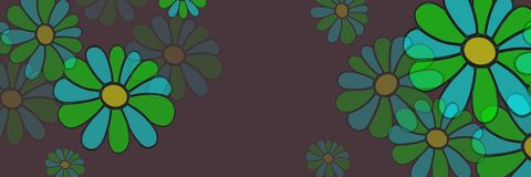 Floral background illustrations. Colorful full colors Royalty Free Stock Photo