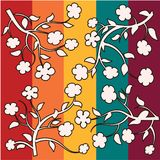 Floral background illustrations. Colorful full colors Stock Photography