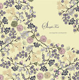Floral background,invitation card Stock Photos