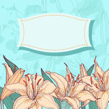 Floral background invitation card Royalty Free Stock Images