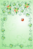 Floral background and the ladybird Royalty Free Stock Images