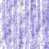 Seamless pattern with lavender flowers on a textured background. Floral vector illustration. Floral background with lavender flowers Royalty Free Stock Image