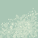 Floral background in light colours vector illustration