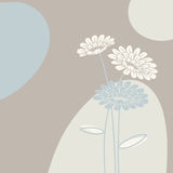 Floral background in light colours Stock Image