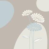 Floral background in light colours vector illustration