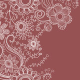Floral background line work Royalty Free Stock Photo