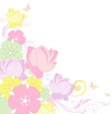 Floral background with lotus Stock Photography