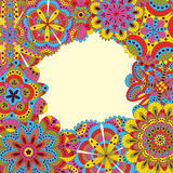 Floral background made of many mandalas. Good for weddings, invitation cards, birthdays, etc. Creative hand drawn elements. Vector Royalty Free Stock Image
