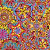 Floral background made of many mandalas. Seamless pattern. Good for weddings, invitation cards, birthdays, etc. Creative hand draw Stock Photo