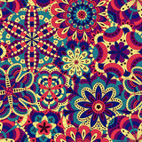 Floral background made of many mandalas. Seamless pattern.  Royalty Free Stock Photos