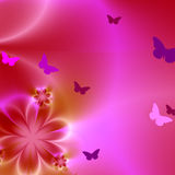Floral background with many butterflies Royalty Free Stock Image