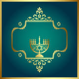 Floral Background with Menorah vector illustration
