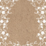 Floral background with mistletoe on kraft paper. Can be greeting Stock Photography