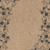 Floral background with mistletoe on kraft paper. Can be greeting Stock Image