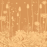 Floral background monochrome Stock Image