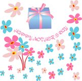 Floral background and mother's day card Royalty Free Stock Photo