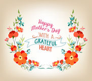 Floral background mothers day greeting card Royalty Free Stock Image