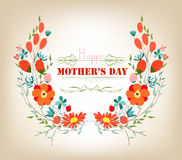Floral background mothers day greeting card Royalty Free Stock Photography