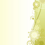 Floral background in mustard. Vector illustration of a floral background in mustard Stock Photos
