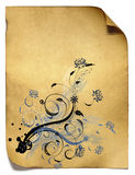 Floral background old paper Royalty Free Stock Photos