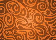 Floral background, orange-brown Royalty Free Stock Image