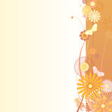 Floral background in orange. Vector illustration of a floral background in orange Stock Photos