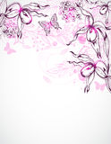 Floral background with orchids Stock Image