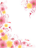 Floral background with ornament Stock Images