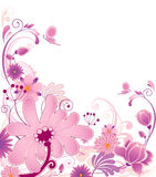 Floral background with ornament Stock Photography