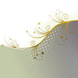Floral Background, ornament, leaves and flowers Royalty Free Stock Photo