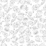 Floral background painting Stock Image