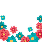 Floral Background with Paper Flowers Royalty Free Stock Photos