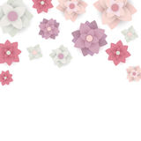Floral Background with Paper Flowers Royalty Free Stock Image