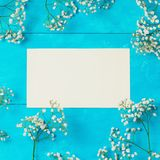 Floral background with paper note Stock Photos