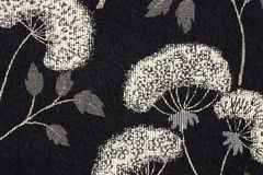 Floral Background Pattern. Black and White Floral and Cloth Fabric Background Pattern Stock Photography