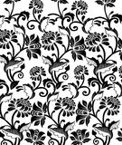 Floral background pattern. Black and white floral pattern royalty free illustration