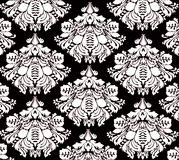 Floral background pattern. Black and white floral pattern Royalty Free Stock Photography