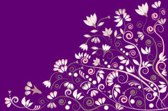 Floral background pattern design in purple Stock Image