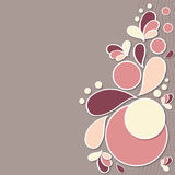 Floral background. Floral pattern retro nature background royalty free illustration