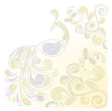 floral  background with peacock Royalty Free Stock Photo