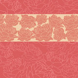 Floral background with peonies. Royalty Free Stock Photo