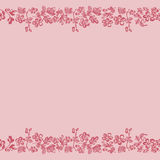 Floral background, pink border edge Royalty Free Stock Photo