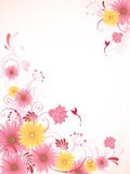 Floral background with pink flowers Stock Photography