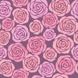 Floral background with pink roses. Seamless floral background with pink roses Royalty Free Stock Photography