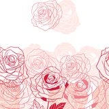 Floral background with pink roses. Vector Stock Photo